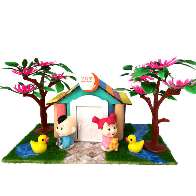 Fantastic Aliexpress Com Buy Diy Building Blocks Mini Dolls Doors And Windows Wooden Clubs Courtyards 3D Houses Childrens Puzzle Toys And Dream Ts Home Interior And Landscaping Mentranervesignezvosmurscom