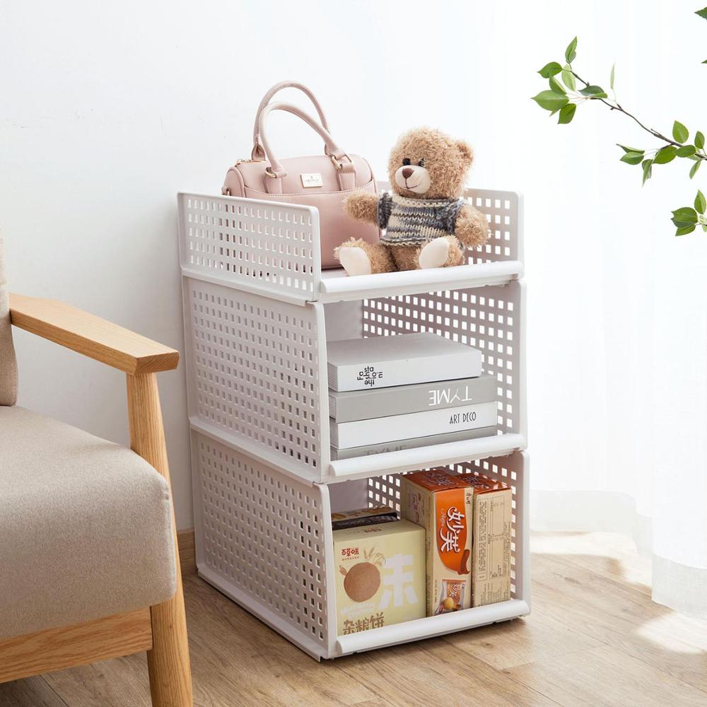 Plastic Clothes Drawer Organizer and Large Capacity Closet Divider Box in Breathable Hollow Design 4