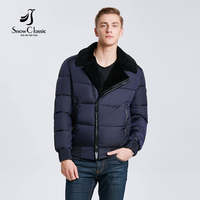Snowclass2017 Winter Models Men Fashion Lapel Warm Business Casual Hair Collar Jacket Cotton Tide European Trend