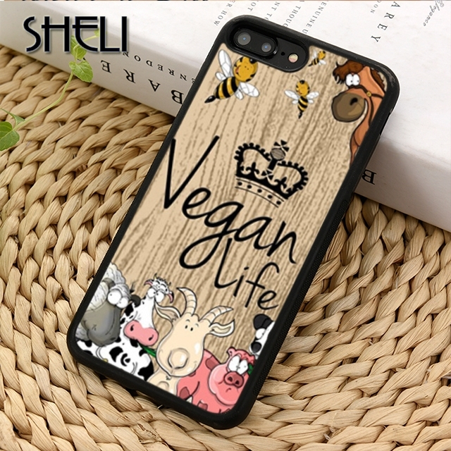 SHELI VEGAN FOOD QUOTES ANIMAL LOVE Phone Case Cover For iPhone 5 6s 7 8 plus X XR XS max 11 Pro Samsung GalaxyS7edge S9 S10