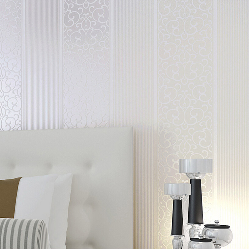 white wide striped simple europe  papel de parede mapa mundi for bedroom wallpaper by free shipping