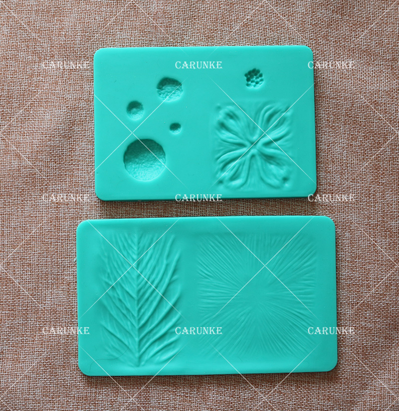 20 12 8 Cake Silicone Board 1PC Petal and Leaves Veining Grooves Board Decorating Platform Cake