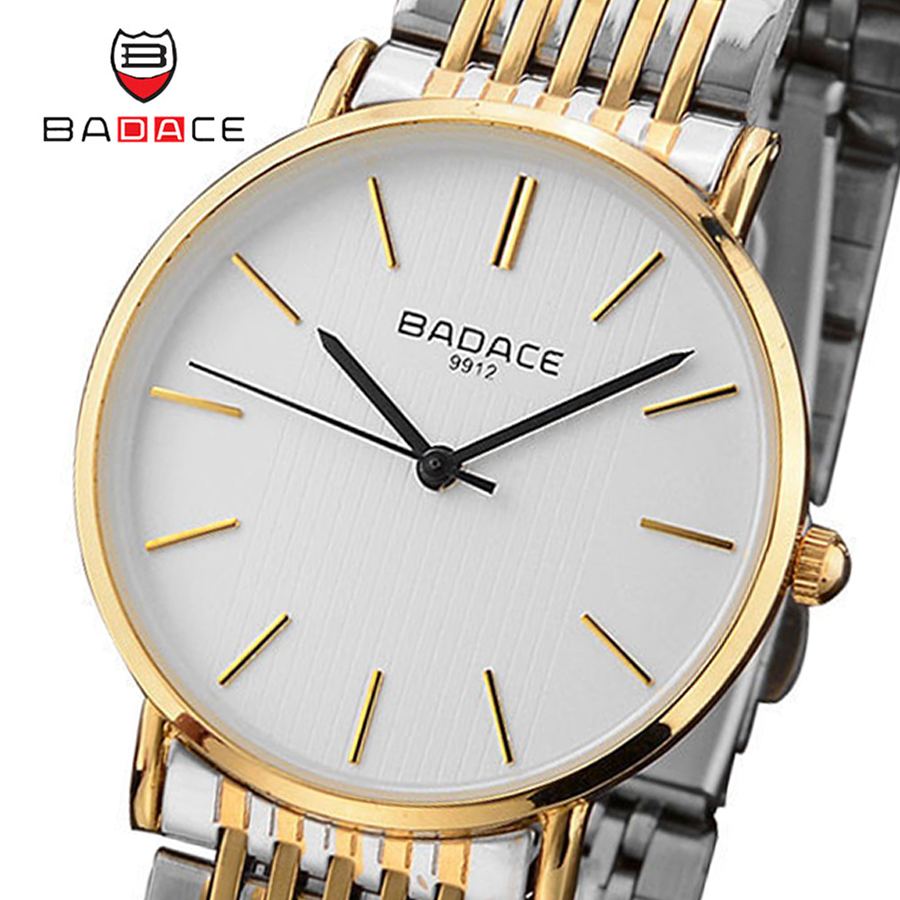 BADACE Luxury Brand Business Men Watches montre homme Stainless Steel Waterproof Ultra Thin Quartz Watch Relogio reloj hombre casima luxury brand sport quartz watches men reloj hombre fashion silicone band100m waterproof men watch montre homme clock