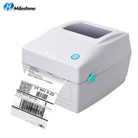 Milestone Barcode Printers Clothing Label Support 20mm~108mm Width Printing Electronic Surface by Thermal Bar Code Label Printer