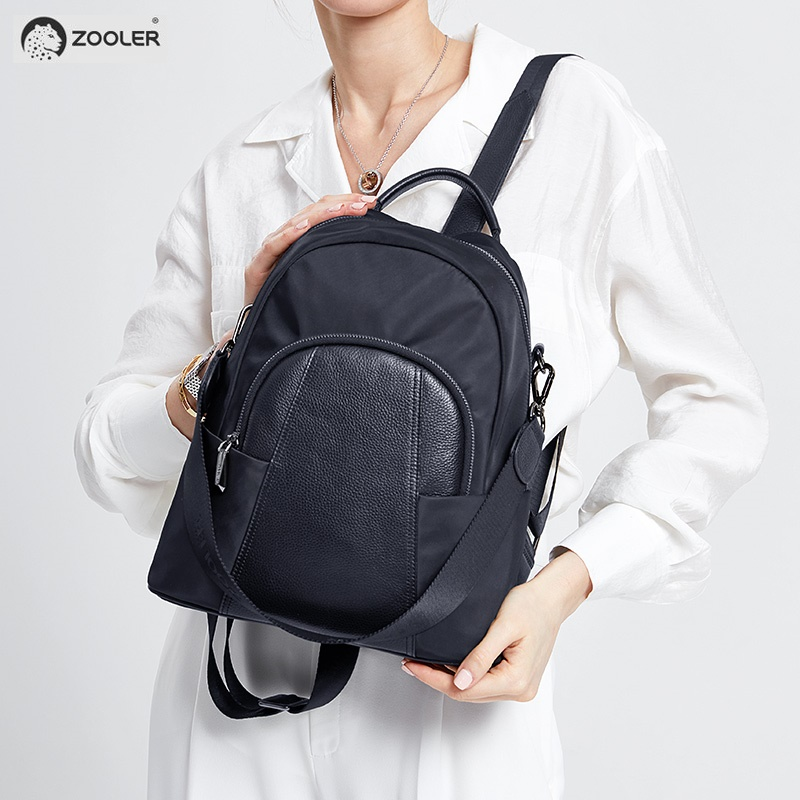 2019 fashion ZOOLER brand woman leather backpack bag cow&Nylon backpacks quality luxury bags large travel bag#HH2022019 fashion ZOOLER brand woman leather backpack bag cow&Nylon backpacks quality luxury bags large travel bag#HH202