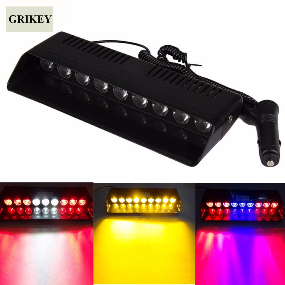 9 LED Tracffic Strobe Flash Light Windshield Visor Emergency Hazard Lamp Dash warning flashing lamp Super Car Signal Lamp s2 shovels ray bead 96w led flashing police strobe intimidator windshield dash light
