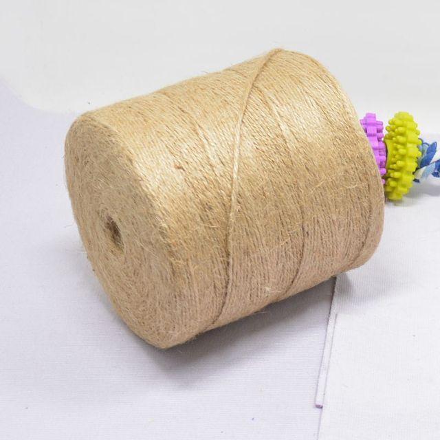500 หลาธรรมชาติ Burlap Hessian Jute Twine สายไฟกัญชาเชือกงานแต่งงานของขวัญห่อสาย DIY Scrapbooking Craft Decor