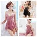 Lingerie V profundo Lingerie fio suave camisola Sleepwear roupas camisas de banho Women' Lace Sexy Cosplay Babydolls YXT1001