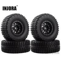 """INJORA 4Pcs Plastic 1.9"""" Wheel Rim Tires Set for 1/10 RC Crawler Car Axial SCX10 90046 Tamiya CC01 D90 D110 1"""