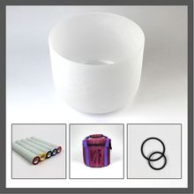 8 inch Quartz Frosted Crystal Singing Bowl with Carry bag,O-ring and Crystal mallet  стоимость