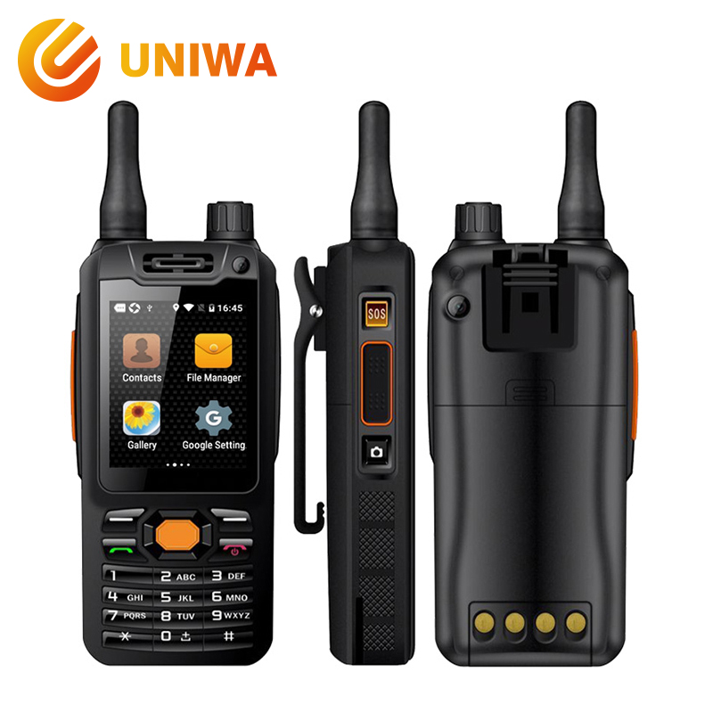Uniwa Alpes F25 Zello Talkie Walkie Mobile Téléphone MTK6735 Quad Core 1 gb + 8 gb ROM GSM/WCDME /LTE Signal Booster Android Smartphone