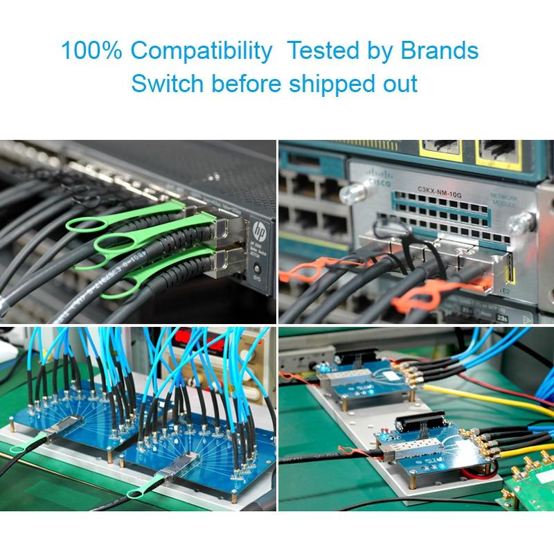 10Gtek для QSFP-4SFP10G-CU1M 1 метр 40Gb / s QSFP + да 4x - Камунікацыйнае абсталяванне - Фота 5