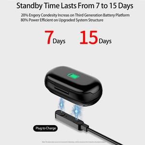 Image 4 - Femperna Bluetooth Kopfhörer Bluetooth 5,0 Drahtlose Kopfhörer TWS Mit Fitness Armband Herz Rate Monitor Smart Uhr