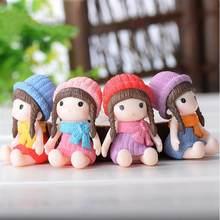 4 PIÈCES Jolie Fille Miniature Bonsaï Figurine Ornement BRICOLAGE Micro Paysage Accessoires mini fée décoration de jardin