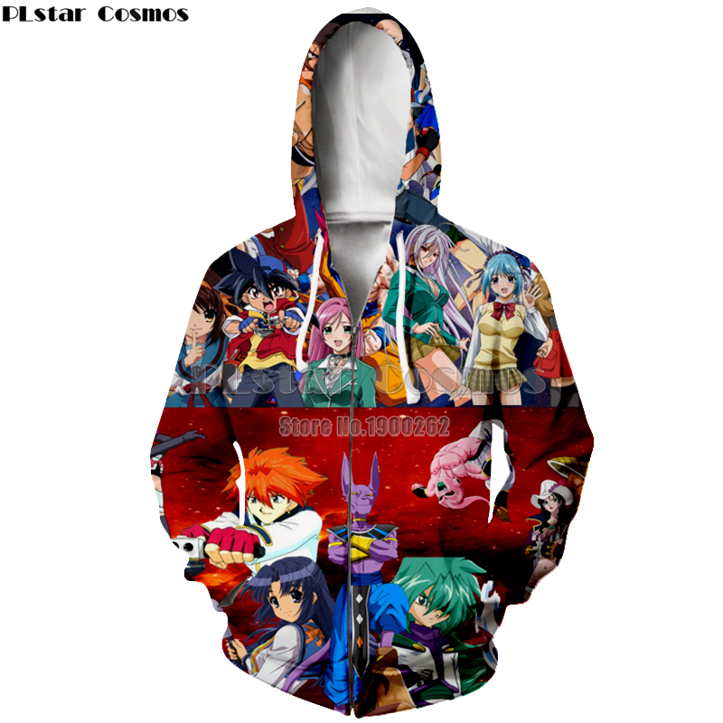 PLstar Cosmos Anime Hoodies Harajuku Style Hooded zipper Hoodie Anime Funny Women Men Drop shipping in Hoodies amp Sweatshirts from Men 39 s Clothing