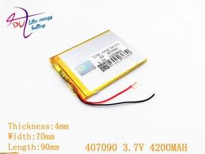Image 2 - 407090 3.7 V 4200 MAH Polymer Cho Máy Tính Bảng Irbis TZ56 TZ49 3G TZ709 TZ707 7043XD 407292 U25GT