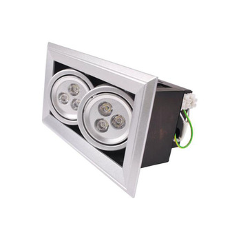 AC110V 240V 6W High Power Gallery Showroom LED Lights AR111 2*3W Light Grille Lamps 2pcs