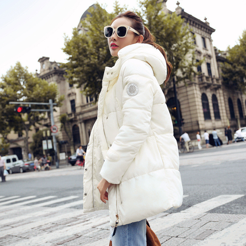 Slim Cotton Padded Jacket Long Section women's Wadded Jacket Hooded coat,female Winter Warm Parka Fashion Parkas TT1652 forex b016 6607