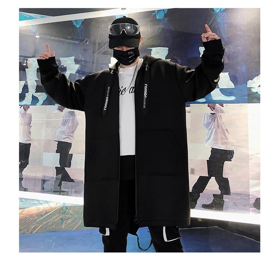 HTB1C.UiK6DpK1RjSZFrq6y78VXaW Long Jacket Men Print Fashion 2019 Spring Harajuku Windbreaker Overcoat Male Casual Outwear Hip Hop Streetwear Coats WG198