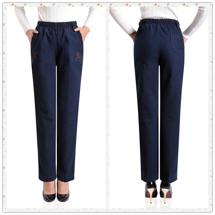 436cd87d043a8 Plus Velvet Winter Warm Jeans Women With High Waist Jeans For Stretching  Skinny Jeans Elastic Waist Plus Size H406-in Jeans from Women s Clothing on  ...