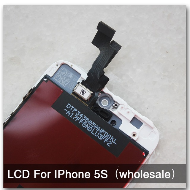 10 pçs/lote 100% nenhum pixel morto qualidade aaa para iphone 5s display lcd & touch screen digitador assembléia substituição navio livre branco