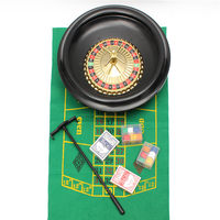 Roulette Wheel Casino Game Set Metal Case Gift Toys For Party Poker Chips Roulette Balls Playing