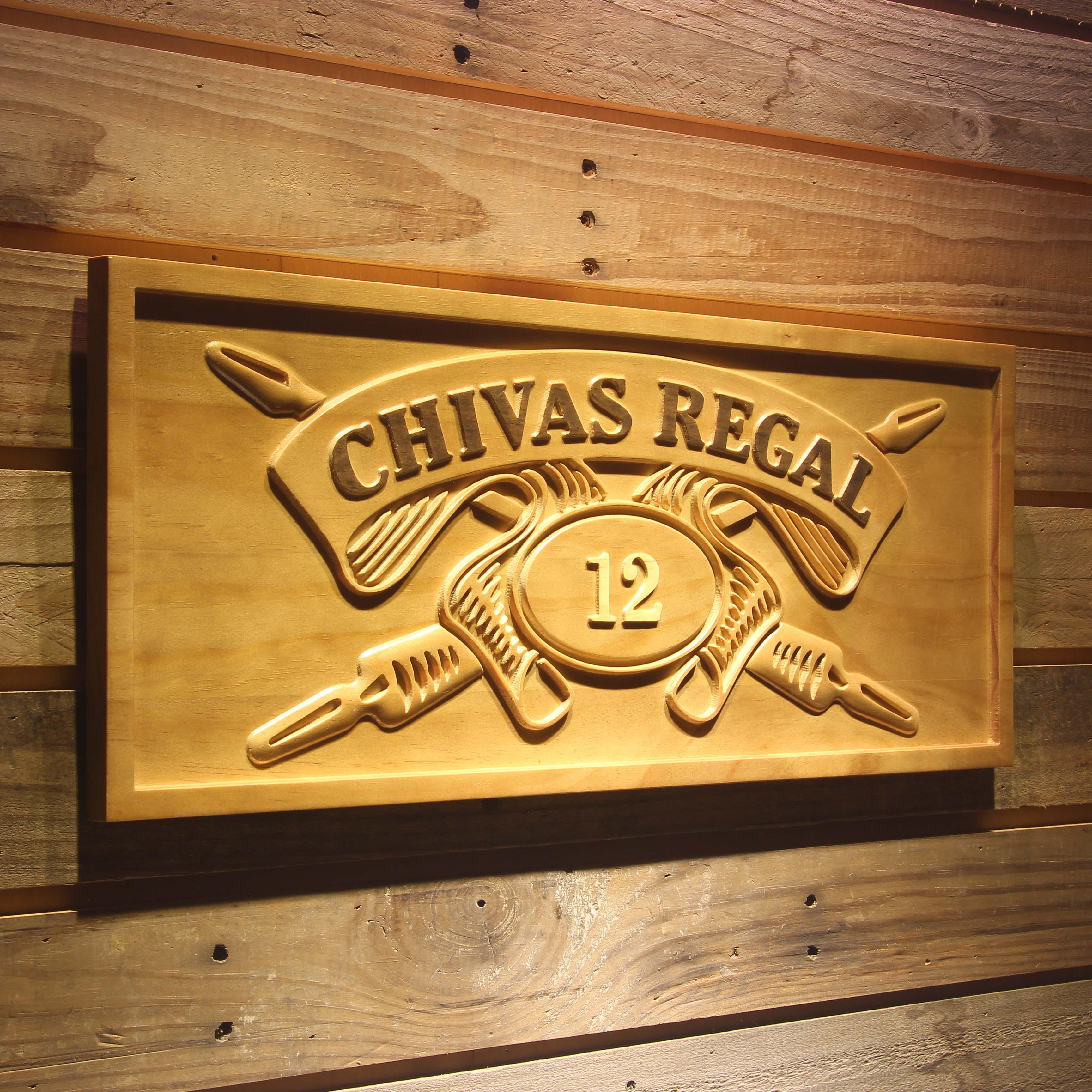 Chivas Regal 12 Whisky 3D Wooden Sign