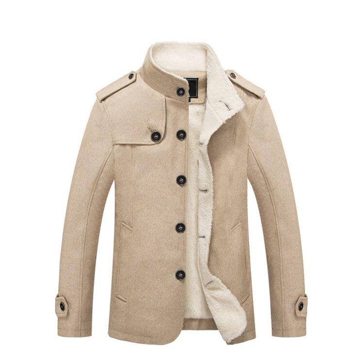 Mountainskin Winter Men's Coat Fleece Lined Thick Warm Woolen Coats Autumn Overcoat Male Wool Blend Jackets Brand Clothing SA607 3