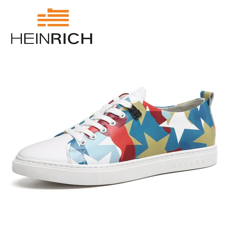 HEINRICH New Sneakers Lace-Up Casual Wear-Resistant Shoes Spring Comfortable Round Toe Man Flats Shoes Erkek Ayakkabi DeriHEINRICH New Sneakers Lace-Up Casual Wear-Resistant Shoes Spring Comfortable Round Toe Man Flats Shoes Erkek Ayakkabi Deri
