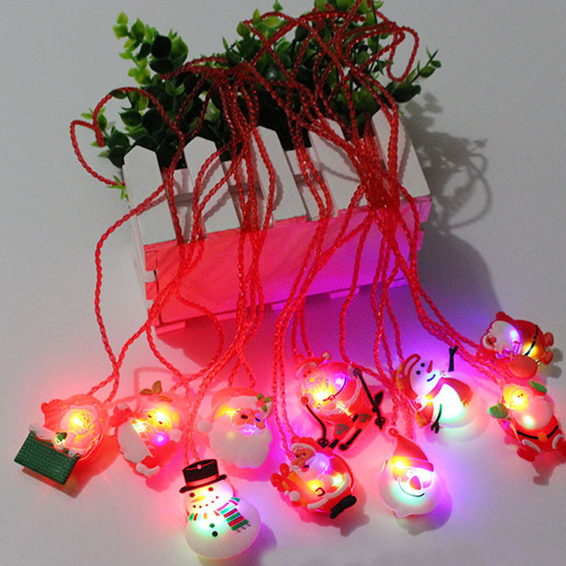 2018 new children kids led light up flashing blinking necklace pendants xmas dress decor glow party supplies in glow party supplies from home garden on
