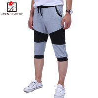2017 Mens Shorts Casual Bermuda Brand Compression Male Color Splicing Cargo Shorts Men Linen Fashion Men