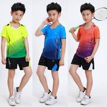 Комплекты для бадминтона для мальчиков детская одежда для тенниса костюм для бадминтона для детей комплект из настольной рубашки и шорт классная одежда для настольного тенниса