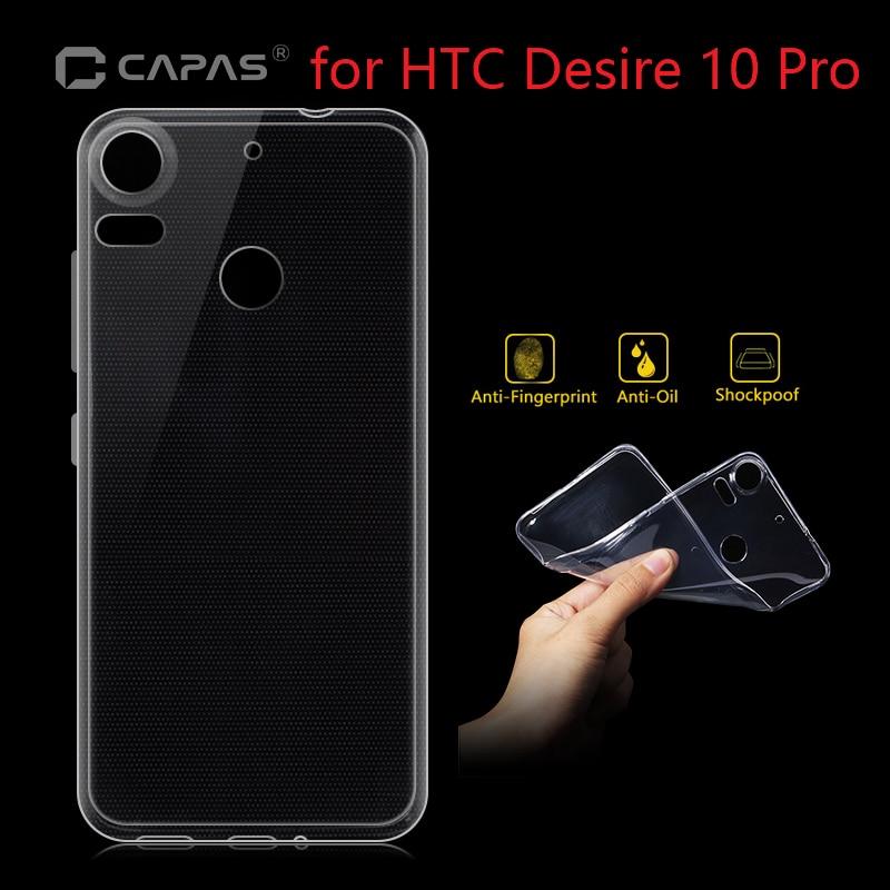 Untuk HTC Desire 10 Pro 10 EVO Kasus Penutup Asli CAPAS transparan Lembut  TPU Silicone 4ddac8cec7