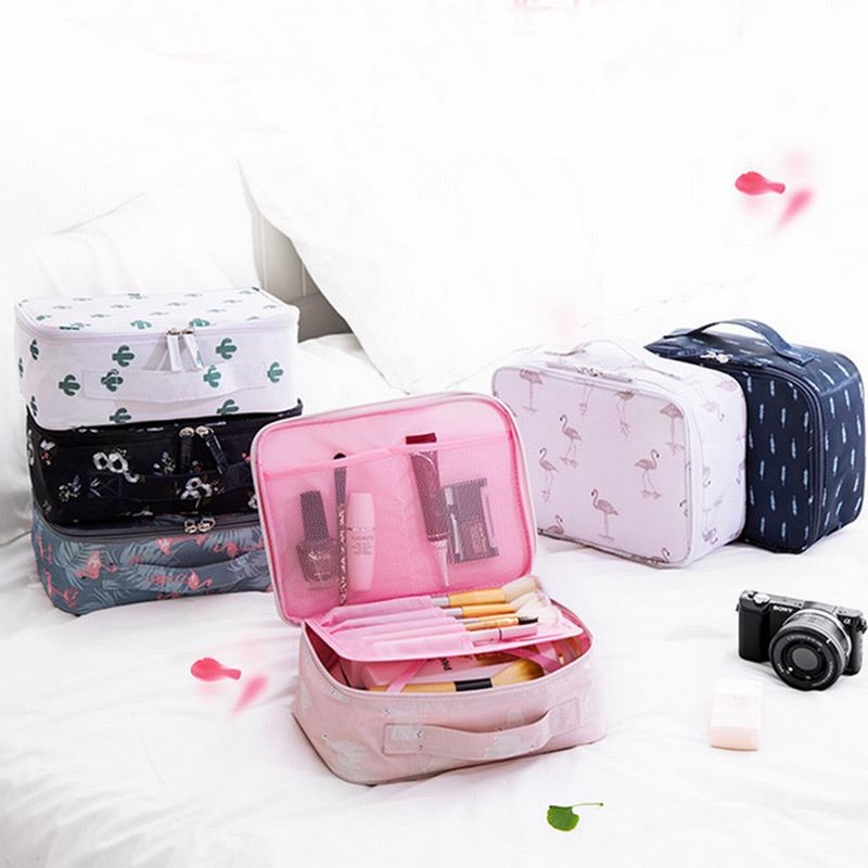 Image 2 - 1 PC Travel Makeup Bags Comestic    Storage bag-in Storage Bags from Home & Garden