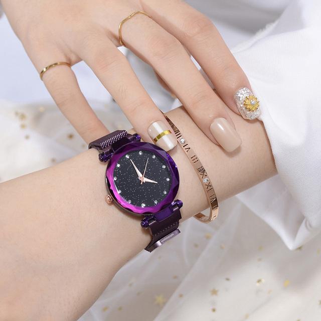 Women Watch Fashion Casual Quartz Waterproof Watch Starry Sky Wrist Watches Women Dress Ladies Quartz Clock Relojes Mujer