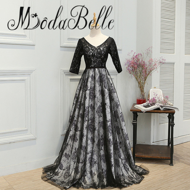 modabelle Elegant Formal Women Evening Dress 2017 Half Sleeve Black ...
