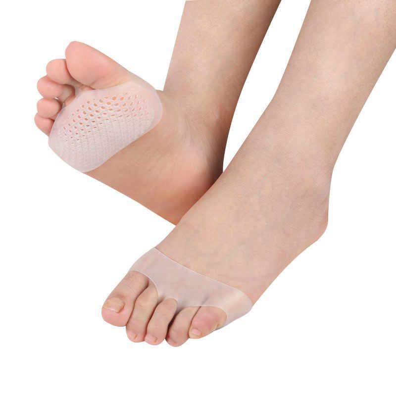 1 คู่ซิลิโคนเจล Insoles Pads Forefoot ปวดด้านหน้าเท้าดูแล Heel รองเท้ากันลื่นแผ่นล้างทำความสะอาดได้ - ลื่น