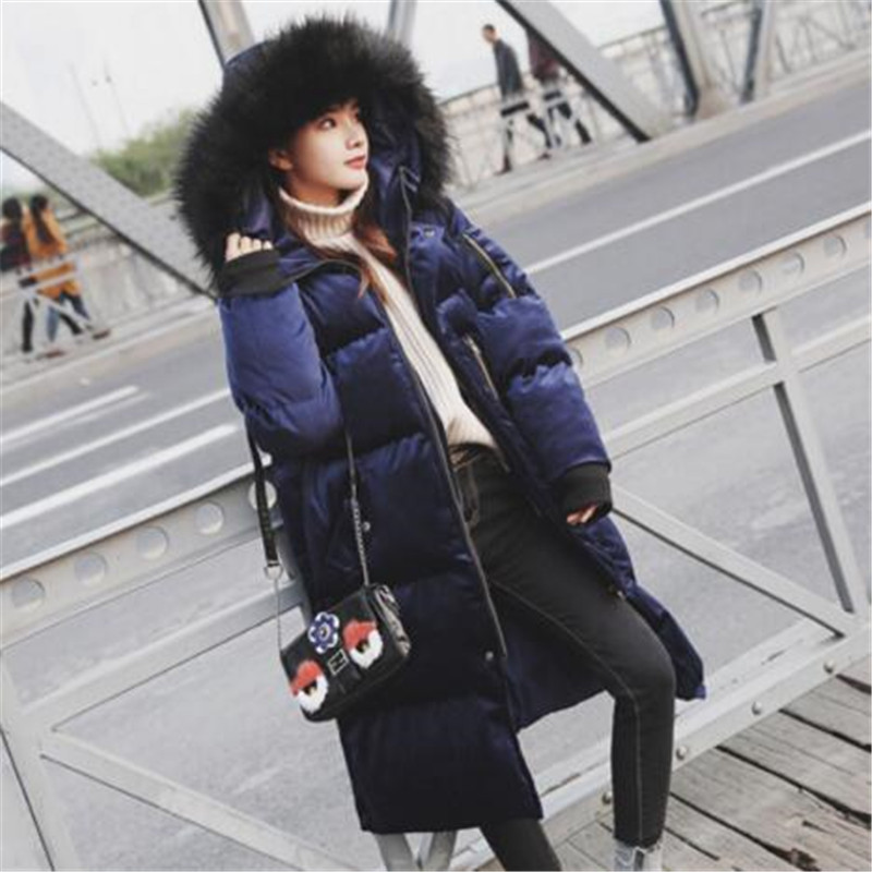 Manteau Bas Col Coton Femelle Velours Épaisse Nouvelle Grand 2018 E176 Femmes Color Mince Tnlnzhyn Le À Photo D'hiver De Fourrure Veste D'or Vers Capuchon P6XZPnxf