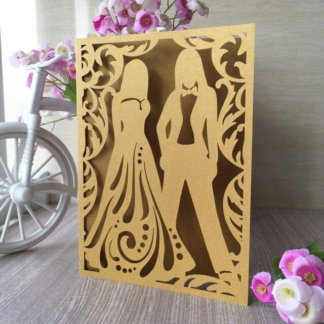 50 Teile/los Heißer Verkauf Liebe Baum Zwei Menschen Romantische Laser Cut Hochzeit  Einladung Karte