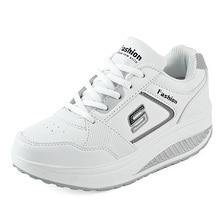 Женские кожаные кроссовки для похудения; обувь на платформе; женская обувь на танкетке; светильник; спортивная обувь; кроссовки;# B2481
