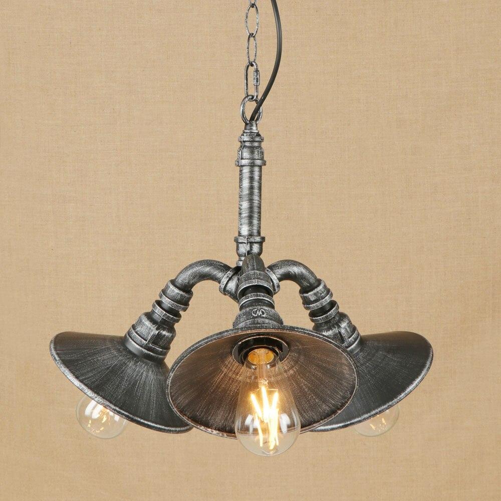 Vintage Iron Metal Classical Pendant Lamp LED 3 Lamp Pendant Light Fixture E27 110V 220V For Kitchen Lights Other Bedrooms BarVintage Iron Metal Classical Pendant Lamp LED 3 Lamp Pendant Light Fixture E27 110V 220V For Kitchen Lights Other Bedrooms Bar