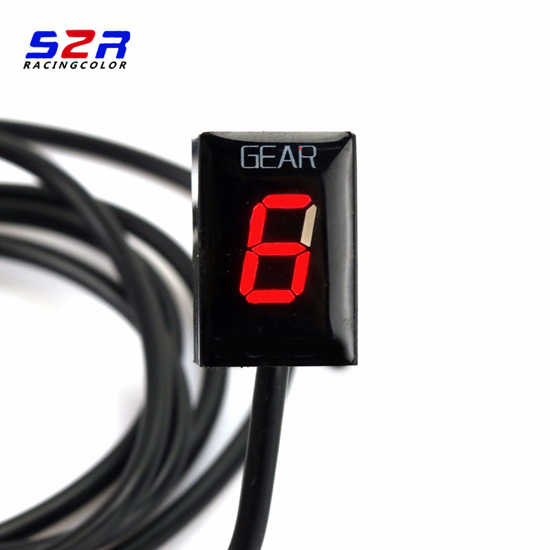 Image 2 - S2R Gear Indicator For Ducati cafe racerMonster 696 796 1100 Scrambler 400 Ecu Plug Mount Speed Gear Display Indicator 1 6 Level-in Instruments from Automobiles & Motorcycles