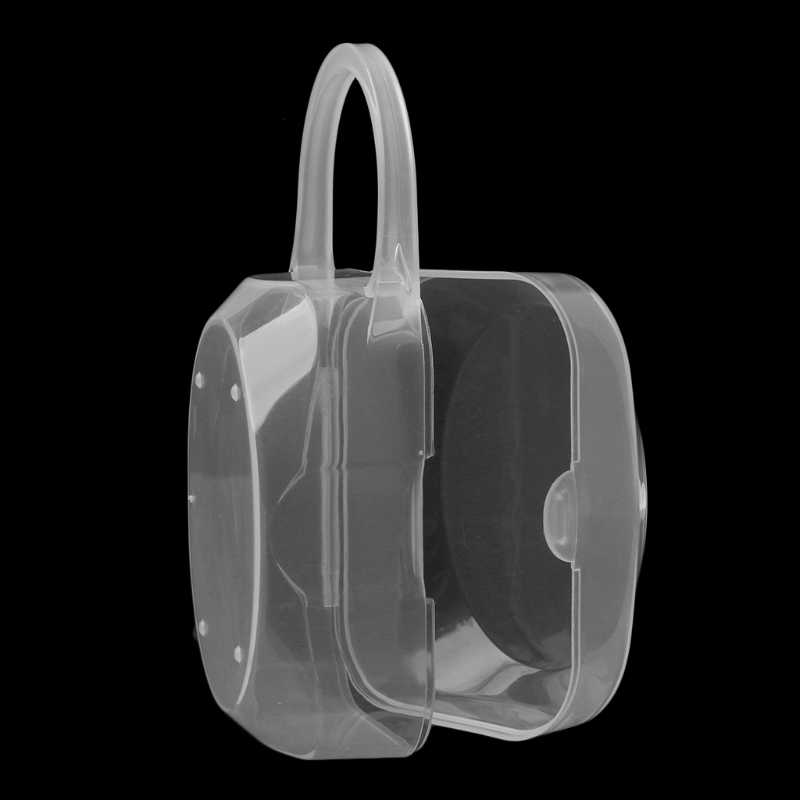 Portable Baby Kid Feeding Bottle Pacifier Soother Nipple Case Holder Storage Box