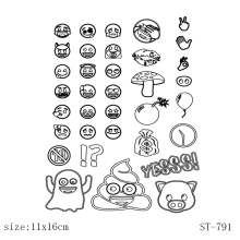 AZSG Expression series  Clear Stamps/Seals For DIY Scrapbooking/Card Making/Album Decorative Silicone Stamp Crafts
