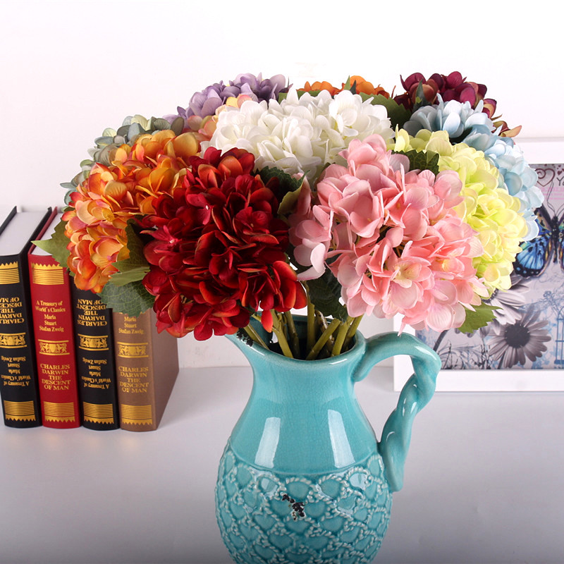 Artificial flowers hydrangea flowers mulit colors table decoration artificial flowers hydrangea flowers mulit colors table decoration flores for home wedding party photography junglespirit Gallery