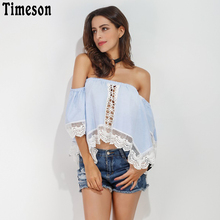 ФОТО timeson sexy lace slash neck cute t shirt off shoulder hollow out loose blusas casual kawaii half sleeve women summer tees