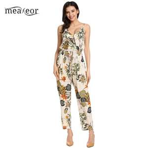1e1a7e4087 Meaneor Sexy Beach Jumpsuit Rompers Casual Women Overall