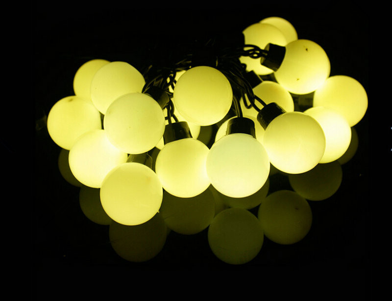 Lights & Lighting 5m 16ft Ball-shaped 20led 40mm Big Ball String Fairy Light 4cm Waterproof Outdoor Wedding/xmas/bar Party Garden Decor-warm White
