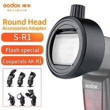 Godox a Testa Tonda Accessori Adattatore S R1 Vestito per V860II V850II TT685 TT600 Serie YONGNUO Canon Nikon Flash installare AK R1