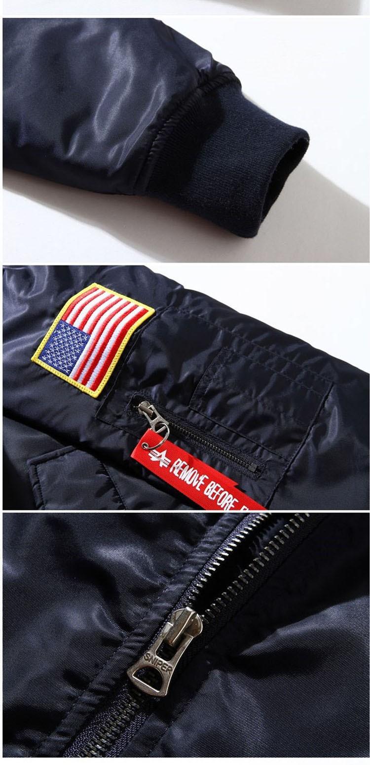 Men Bomber Jackets Flight Pilot Jacket Coat Nasa Air Force Embroidery Baseball Uniform Military Style Coats Army Green Black (12)